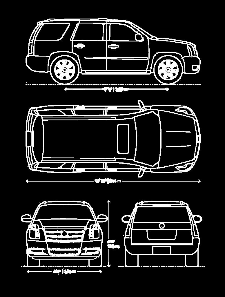 Cadillac Escalade wymiary - Wypożyczalnia samochodów luksusowych Mestenza Trójmiasto Rafał Grzebin