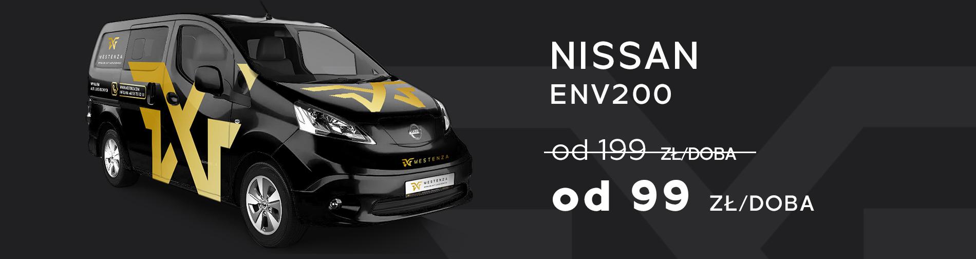 Elektryczny Nissan Wynajem samochodów w promocji taniej Trójmiasto