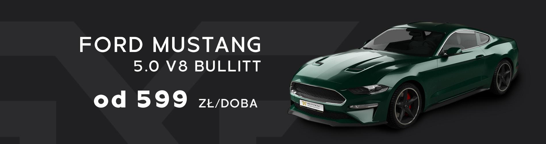 Ford Mustang Bullitt Wynajem samochodów w promocji taniej Trójmiasto