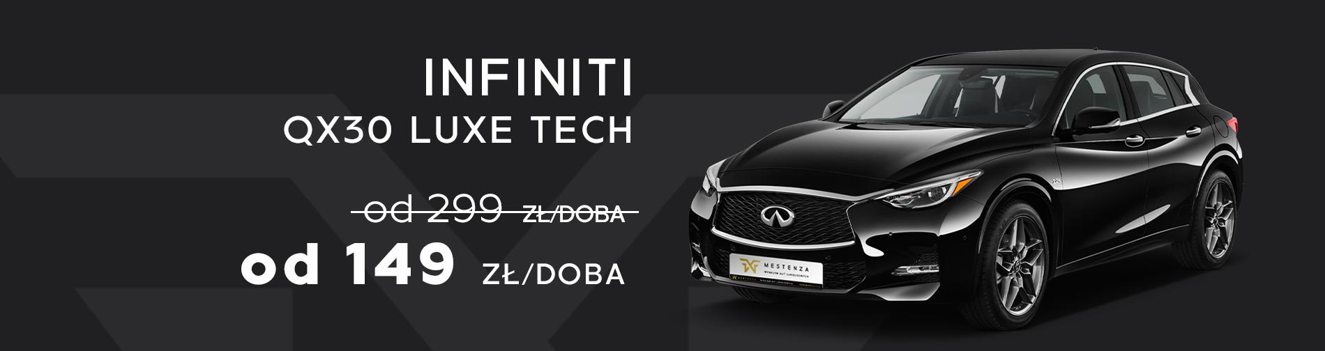 Infiniti QX30 Luxe Tech Wynajem samochodów w promocji taniej Trójmiasto